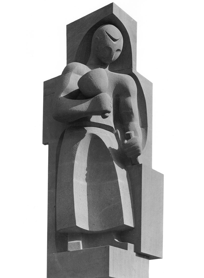 Steinmetzfigur am Grimmsche Haus